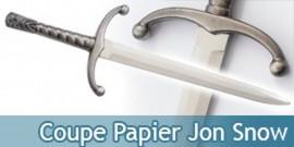 Coupe Papier Jon Snow Ouvre Lettre Epee + Support Acier