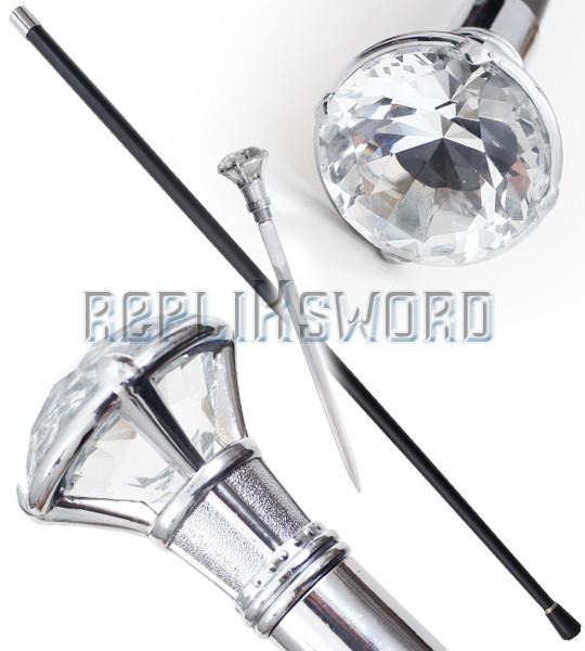 Canne Epee Diamant Fantasy de Marche Gentlemen