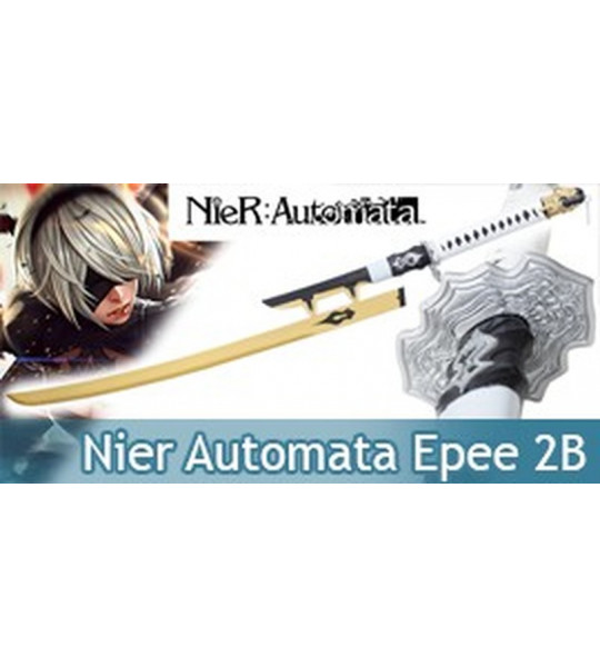 Nier Automata Epee 2B Replique Acier Yorha Gold Edition