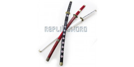 Pack 3 Katanas Tranchants Zoro One Piece Sabre Lame Maru