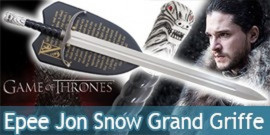 Game of Thrones Jon Snow Epée Longclaw Trone de fer