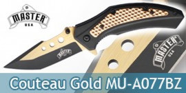 Couteau Pliant Master USA Gold MU-A077BZ