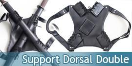 Support Cuir Dorsal 2 Epees Katanas PK-618G