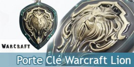 Porte Cle Warcraft Garde Royale WOW Bouclier Gold