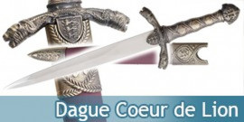 Dague Medievale Richard Cœur de Lion Couteau