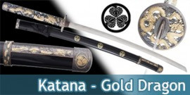 Katana Decoration Gold Dragon Epee Sabre
