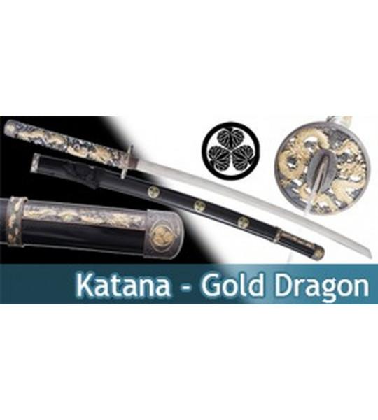 Katana Decoration Gold Dragon Epee Sabre