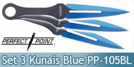 Set 3 Kunais a Lancer Blue Edition Perfect Point