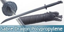 Epee Polypropylene Sabre Noire Dragon Entrainement