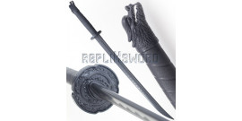 Pack 2 Epees Polypropylene Sabre Noire Dragon