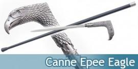 Canne Epee de Marche Aigle Eagle Acier