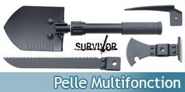 Pelle de Survie Multifonction Camping Survivor