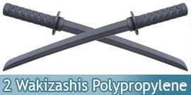 Pack 2 Epees de Combat Wakizashi en Polypropylene 60cm