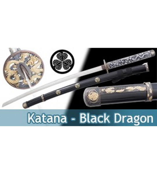 Katana Decoration Black Dragon Epee Sabre