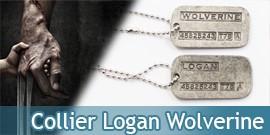 Wolverine Cosplay Collier Pendentif Acier X-Men