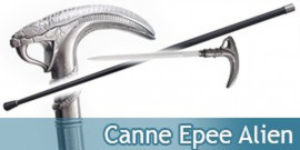 Canne Epee de Marche Serpent Cobra Alien