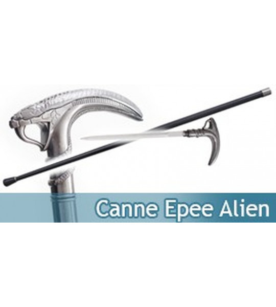 Canne Epee de Marche Serpent Cobra Alien