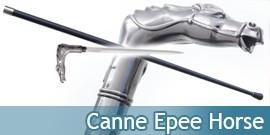 Canne Epee de Marche Cheval Horse Acier
