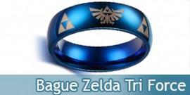 Bague Zelda Anneau Tri Force Link Bijoux Bleu