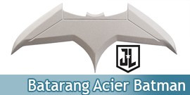 Batman Batarang Acier Justice League Replique