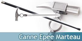 Canne Epee de Marche Hammer Acier