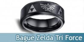 Bague Zelda Anneau Tri Force Link Bijoux Noir