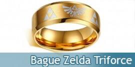 Bague Zelda Anneau Tri Force Link Bijoux Doré
