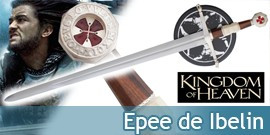 Kingdom of heaven Epee de Balian Epée Ibelin Windlass