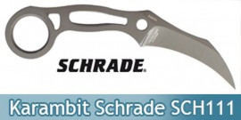 Couteau Karambit Lame Fixe Schrade SCH111