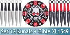 12 Couteaux de Lancer + Cible Death - XL1549