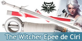 The Wticher Epee de Ciri Replique Acier Sabre et Fourreau