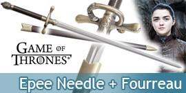 Game of Thrones Arya Stark Epee Aiguille + Fourreau