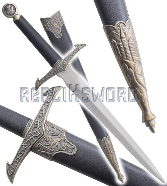Dague Medievale Chevalier Noir Couteau