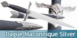 Dague Maconnique Silver Couteau Chevalier