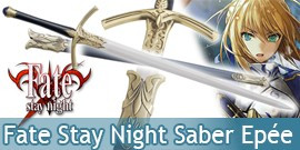 Fate Stay Night Sabre Saber Epée Excalibur Replique