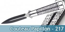 Couteau Papillon Tout en Acier Black Edition 217
