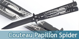 Couteau Papillon Black Spider 800