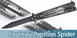Couteau Papillon Black Spider 800