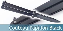 Couteau Papillon Tout en Acier All Black Edition 215