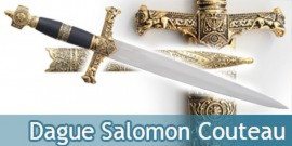 Dague Salomon Couteau Acier Decoration