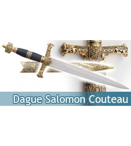 Dague Salomon Couteau Acier Decoration
