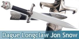 Dague Longclaw Jon Snow Couteau Tete de Loup