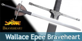 Braveheart Epée de William Wallace + Plaque
