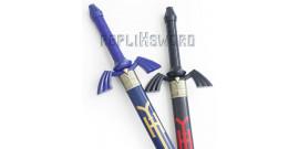 Pack 2 Epees Link Zelda Black et Blue + Fourreaux + Support