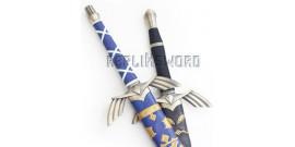 Lot 2 Epees Link Zelda Black et Blue + Support