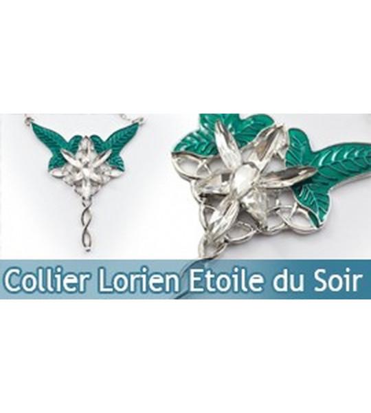 Bijou Etoile du Soir Lorien Le Seigneur des Anneaux Collier