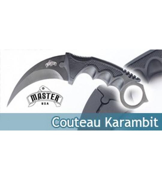 Couteau Karambit Lame Fixe Noire