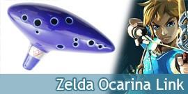 Zelda Ocarina du Temps Flute en Céramique Link