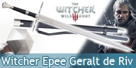 The Witcher Epee Geralt de Riv Replique Sabre et Fourreau