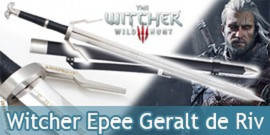 The Witcher Epee Geralt de Riv Repliqe Sabre Wolf